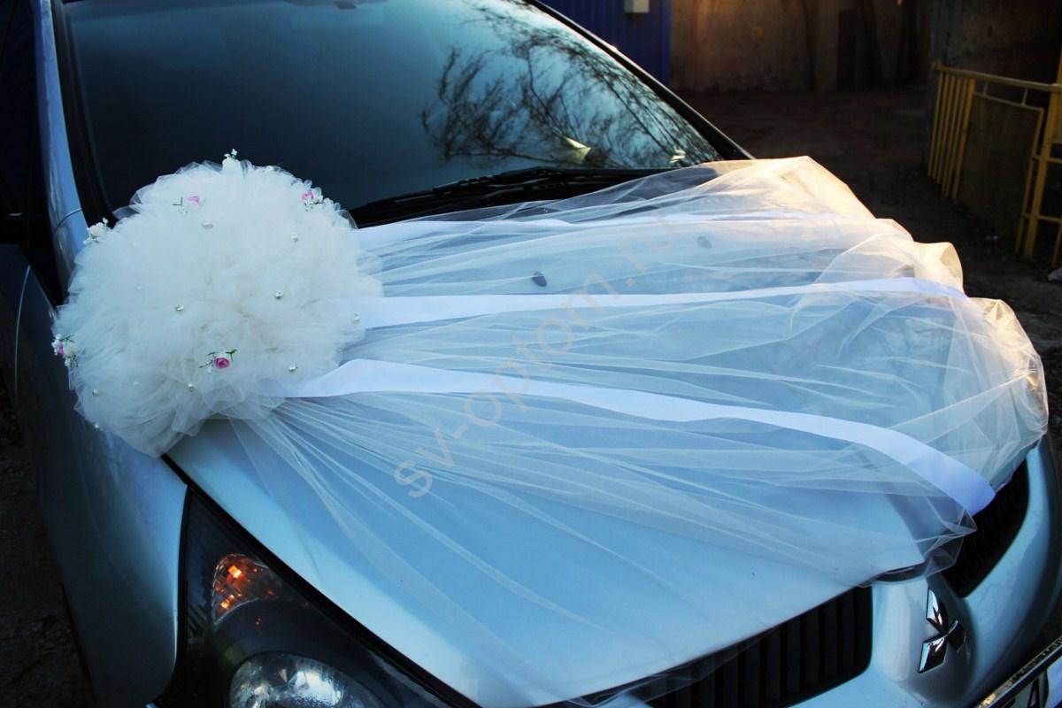 Как сделать украшения на свадебную машину из фатина своими руками 43