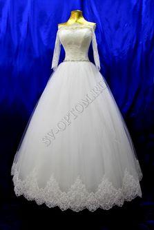 Свадебное платье Цвет: Кремовый №1273 раз. 42, 44, 50. арт. 001