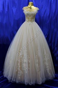 Свадебное платье Цвет: Пудра №1312 раз. 42, 44. арт. 004
