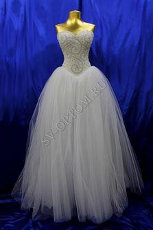 Свадебное платье Цвет: Белый №1293 раз. 40,46. арт. 011