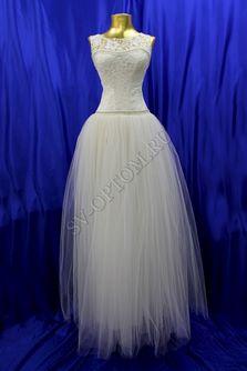 Свадебное платье Цвет: Айвори, Белый №1061 раз. 40-54. арт. 049