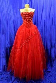 Свадебное платье Цвет: Красный №35 раз. 48. арт. 051