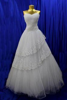 Свадебное платье Цвет:Белый №039 раз. 44. арт. 065