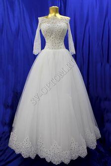 Свадебное платье Цвет: Кремовый №1281 раз. 42. арт. 068
