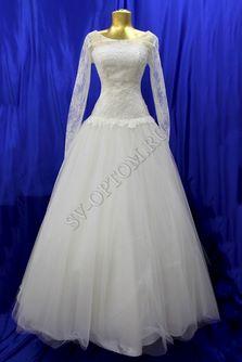 Свадебное платье Цвет: Айвори №362 раз. 44. арт. 069