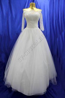 Свадебное платье Цвет: Кремовый №1136 раз. 44. арт. 071