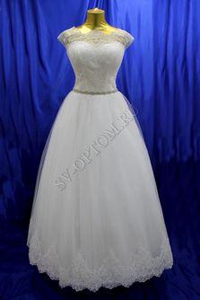 Свадебное платье Цвет: Кремовый, Белый №1236 раз. 50, 54, 56. арт. 073