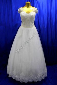 Свадебное платье Цвет: Айвори, Белый №1152 раз. 54, 56. арт. 077