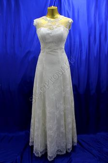 Свадебное платье Цвет: Кремовый №86, 98 раз. 44. арт. 094