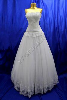 Свадебное платье Цвет: Белый №352 раз. 44. арт. 097