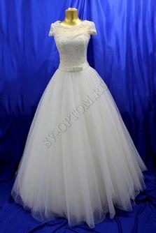 Свадебное платье Цвет: Кремовый №2 раз. 44. арт. 108