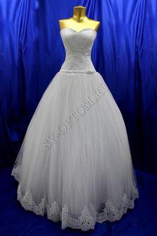 Свадебное платье Цвет: Белый №374, 37 раз. 46. арт. 126