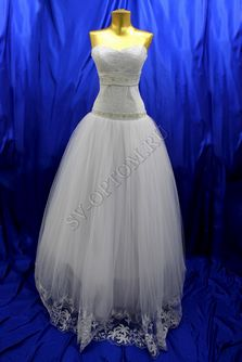 Свадебное платье Цвет: Белый №76, 108 раз. 44. арт. 139