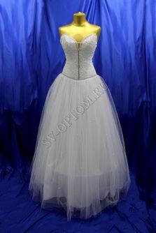 Свадебное платье Цвет: Белый №34 раз. 46. арт. 144