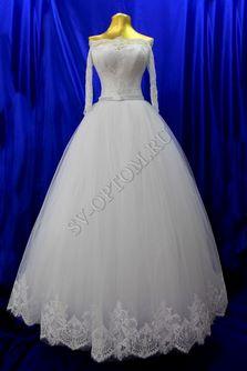 Свадебное платье Цвет: Белый раз. 42-50. арт. 146