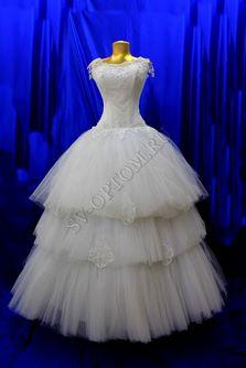 Свадебное платье Цвет: Белый раз. 46. арт. 150